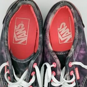 Vans Shoes - Vans Off the Wall Canvas Shoes Purple Tie Dye